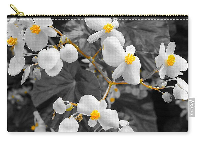 Monochrome Carry-all Pouch featuring the photograph Veins Of Gold by Tim G Ross
