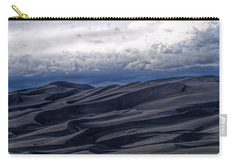 Great Sand Dunes National Park Carry-all Pouch featuring the photograph Velvet at Night by Alana Thrower