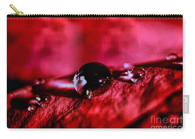 Velvet Drops Carry-all Pouch featuring the photograph Velvet Drops by Mariola Bitner