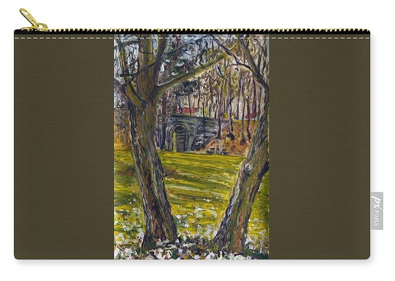 Landscape Carry-all Pouch featuring the painting Ven Z Parku by Pablo de Choros