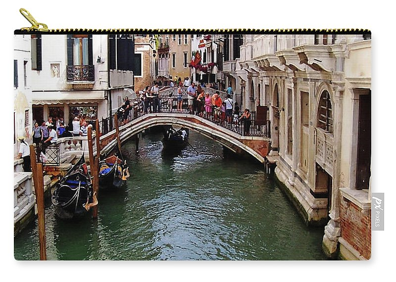 Venice Carry-all Pouch featuring the photograph Venetian Bridge by Debbie Oppermann