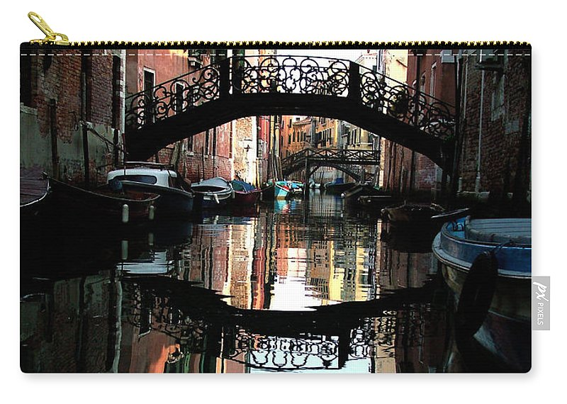 Venice Carry-all Pouch featuring the photograph Venetian Delight by Donna Corless