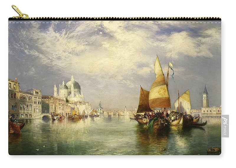 Thomas Moran Carry-all Pouch featuring the painting Venetian Grand Canal by Thomas Moran