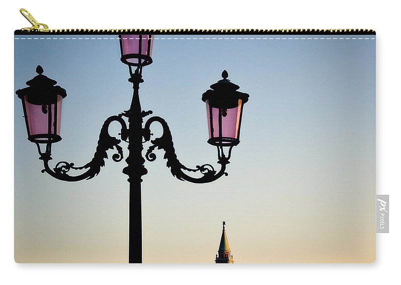 Venice Carry-all Pouch featuring the photograph Venetian Sunset by Dave Bowman