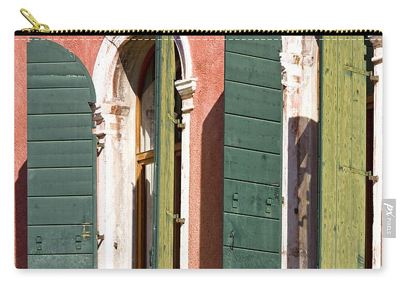Europe Carry-all Pouch featuring the photograph Venetian Windows by Heiko Koehrer-Wagner