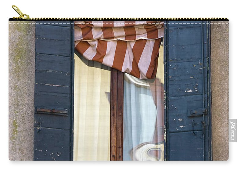 Europe Carry-all Pouch featuring the photograph Venetian Windows Shutter by Heiko Koehrer-Wagner