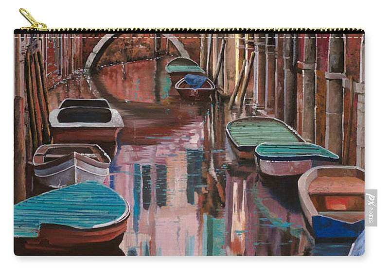 Venice Carry-all Pouch featuring the painting Venezia A Colori by Guido Borelli