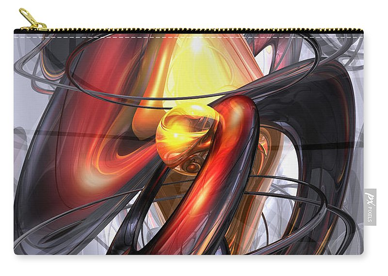 3d Carry-all Pouch featuring the digital art Vengeance Abstract by Alexander Butler