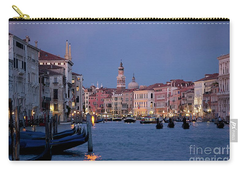 Venice Carry-all Pouch featuring the photograph Venice Blue Hour 2 by Heiko Koehrer-Wagner