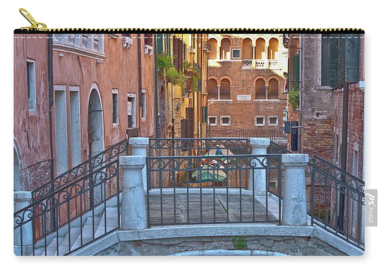 Venice Carry-all Pouch featuring the photograph Venice Cross Over by Heiko Koehrer-Wagner