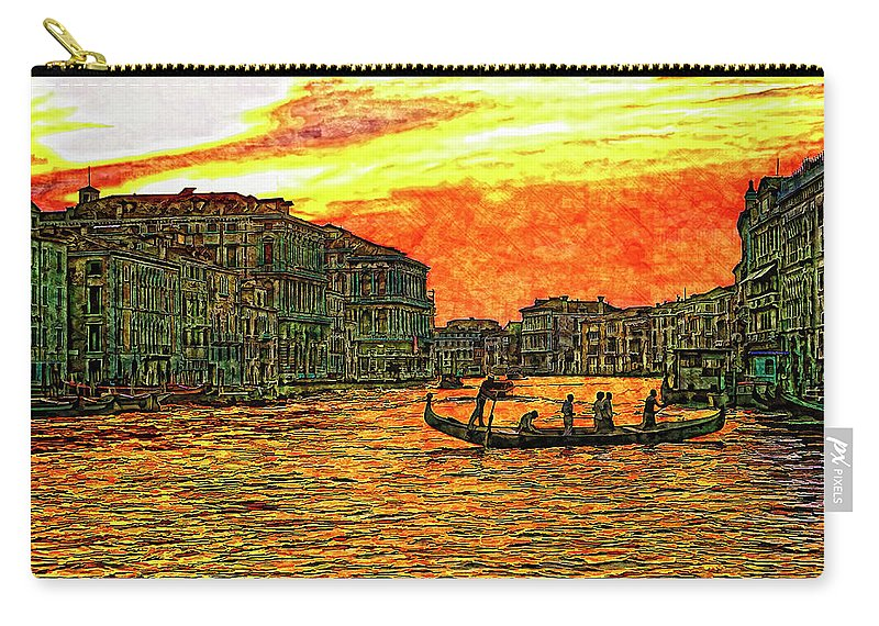 Venice Carry-all Pouch featuring the photograph Venice Eventide by Steve Harrington