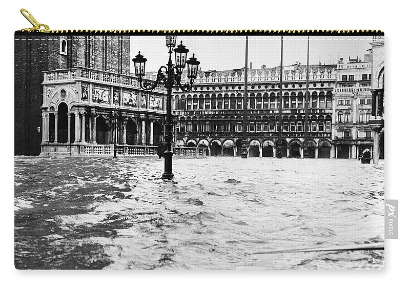 1966 Carry-all Pouch featuring the photograph Venice: Flood, 1966 by Granger