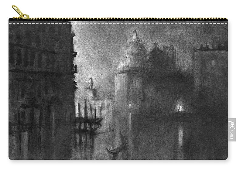 1905 Carry-all Pouch featuring the drawing Venice, Grand Canal, C1905. by Granger
