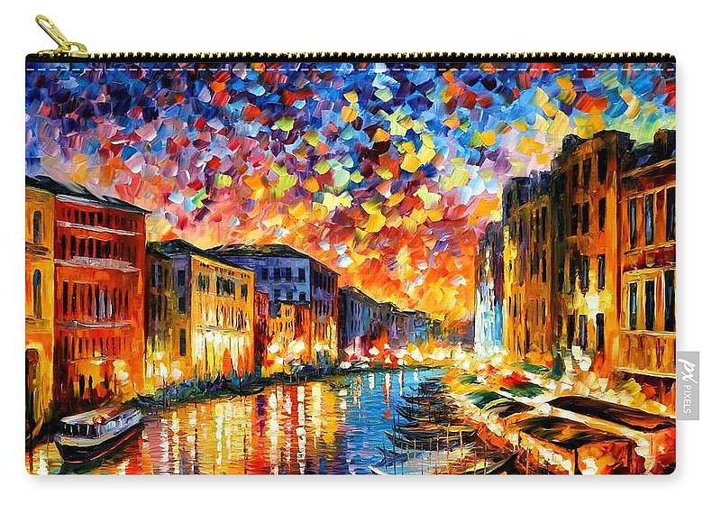 Afremov Carry-all Pouch featuring the painting Venice - Grand Canal by Leonid Afremov