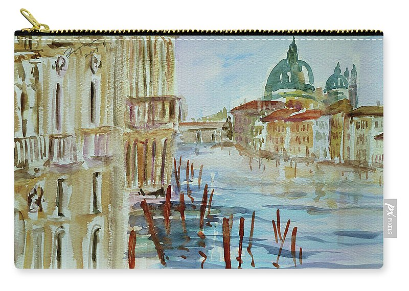 Venice Carry-all Pouch featuring the painting Venice Impression IIi by Xueling Zou