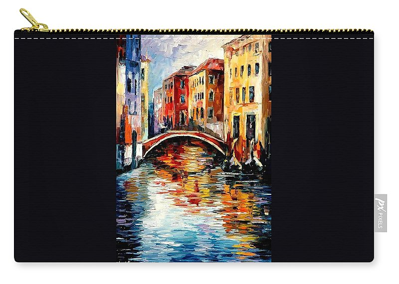 Landscape Carry-all Pouch featuring the painting Venice by Leonid Afremov