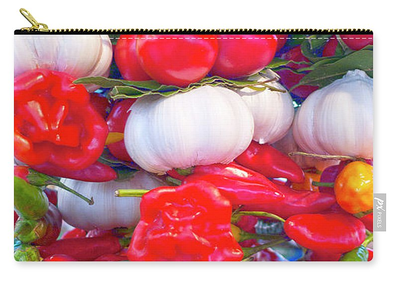 Pepper Carry-all Pouch featuring the photograph Venice Market Goodies by Heiko Koehrer-Wagner