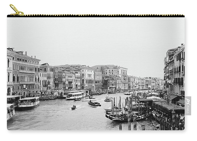 Venice Carry-all Pouch featuring the photograph Venice Taxi Ride by Jr Ross