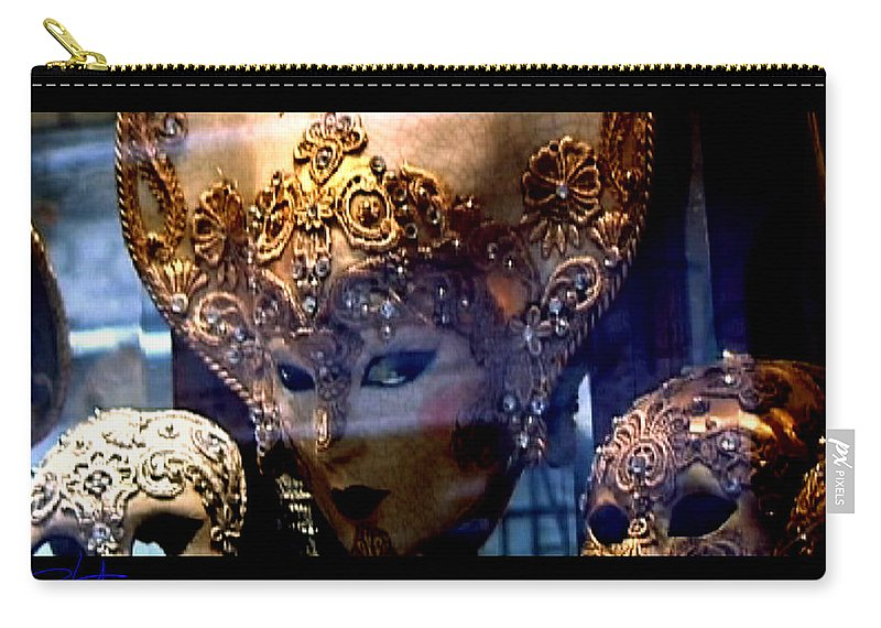 Venice Carry-all Pouch featuring the photograph Venician Masks by Charles Stuart
