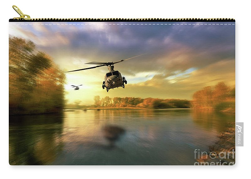 Uh-1y Carry-all Pouch featuring the digital art Venomous Sting by J Biggadike