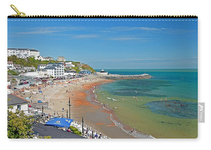 Isle Of Wight Carry-all Pouch featuring the photograph Ventnor Beach And Seafront by Rod Johnson