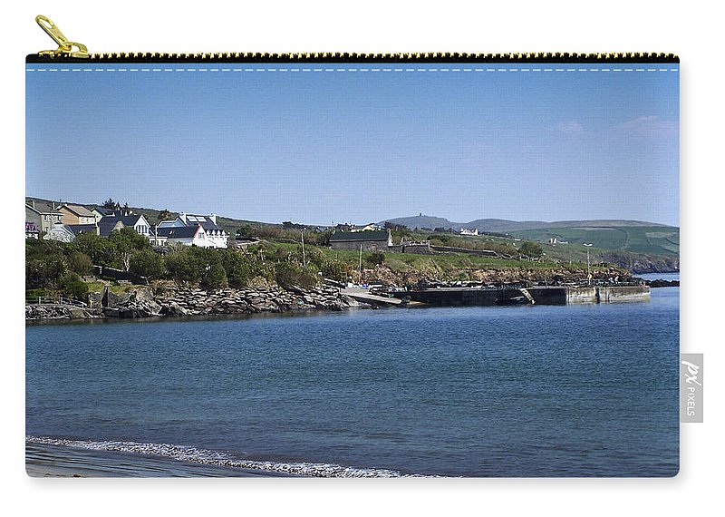 Irish Carry-all Pouch featuring the photograph Ventry Beach And Harbor Ireland by Teresa Mucha
