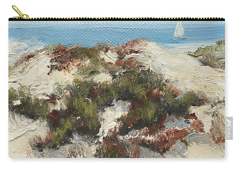 Water Carry-all Pouch featuring the painting Ventura Dunes I by Barbara Andolsek