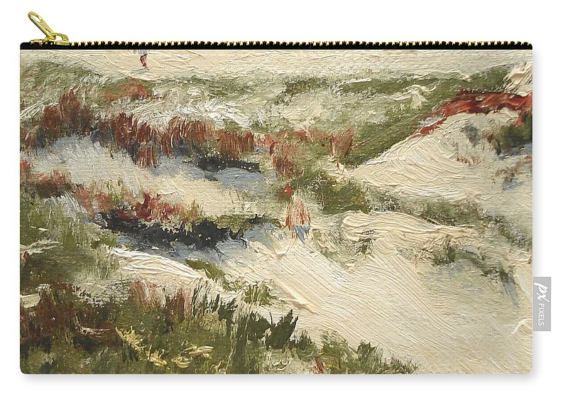 Water Carry-all Pouch featuring the painting Ventura Dunes II by Barbara Andolsek