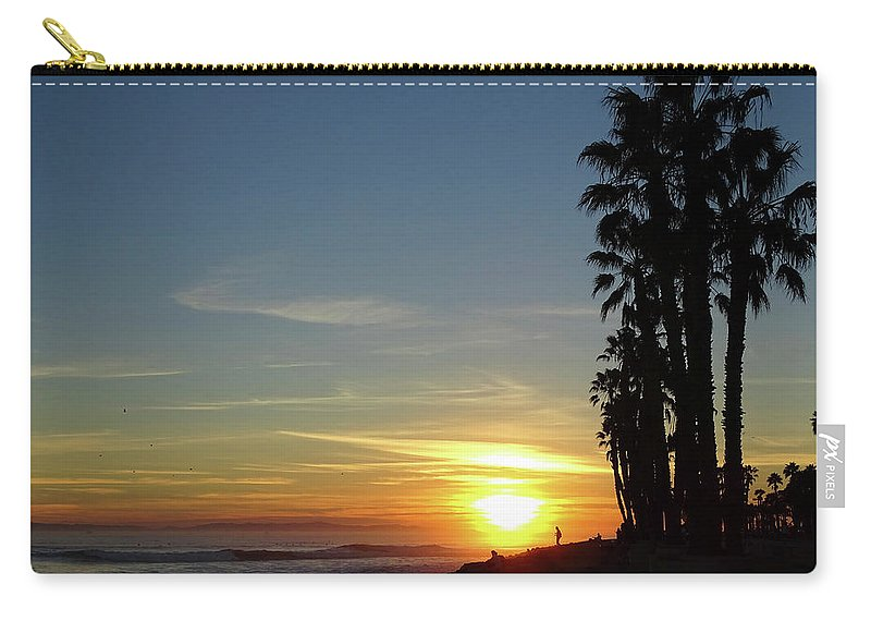 Ventura Carry-all Pouch featuring the photograph Ventura Sunset by Deborah England