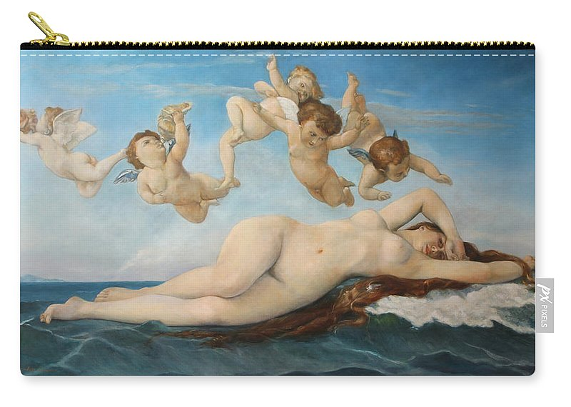 Realism Carry-all Pouch featuring the painting Venus after Cabanel by Darko Topalski