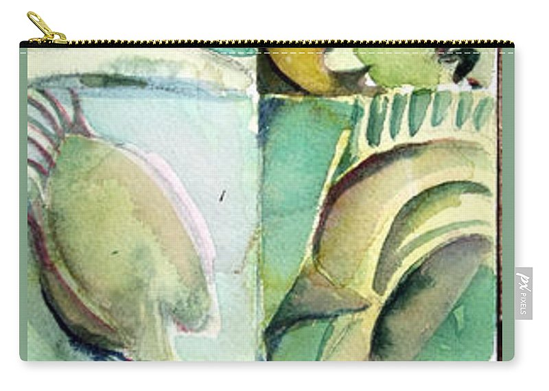 Aceo Carry-all Pouch featuring the painting Venus Fly Trap by Mindy Newman
