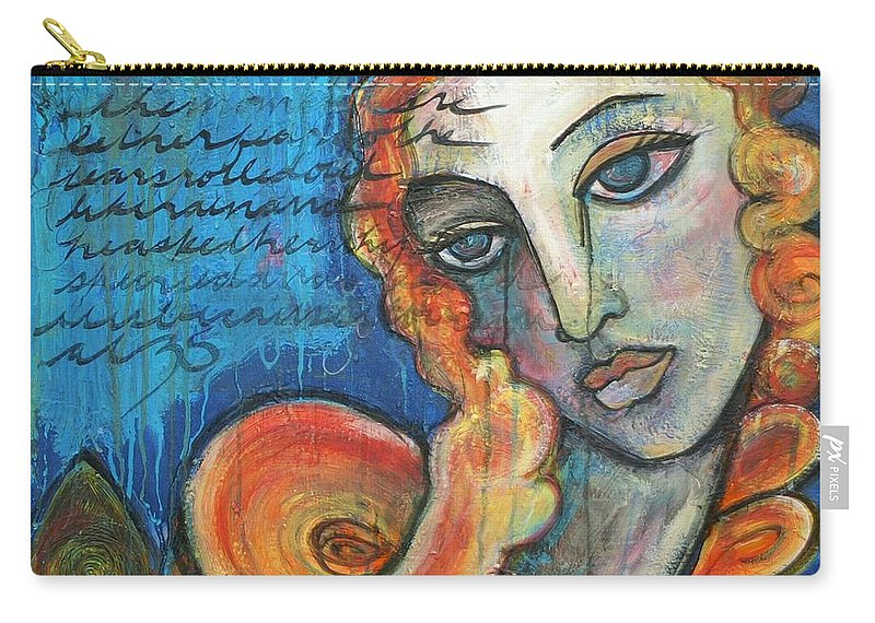 Venus Carry-all Pouch featuring the painting Venus Lets Go by Laurie Maves ART