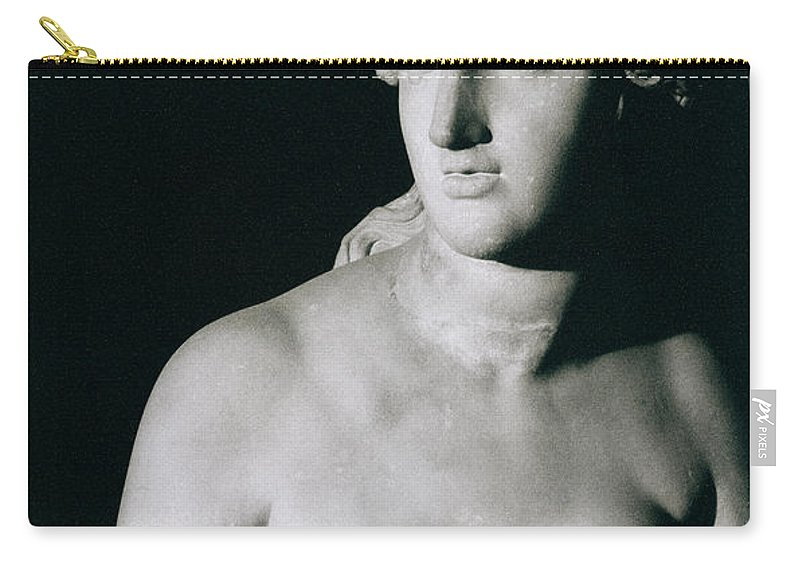 Venus Pudica (marble) Carry-all Pouch featuring the photograph Venus Pudica by Unknown