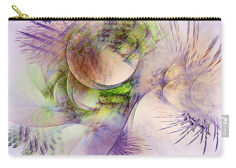 Abstract Carry-all Pouch featuring the digital art Venusian Microcosm by Casey Kotas