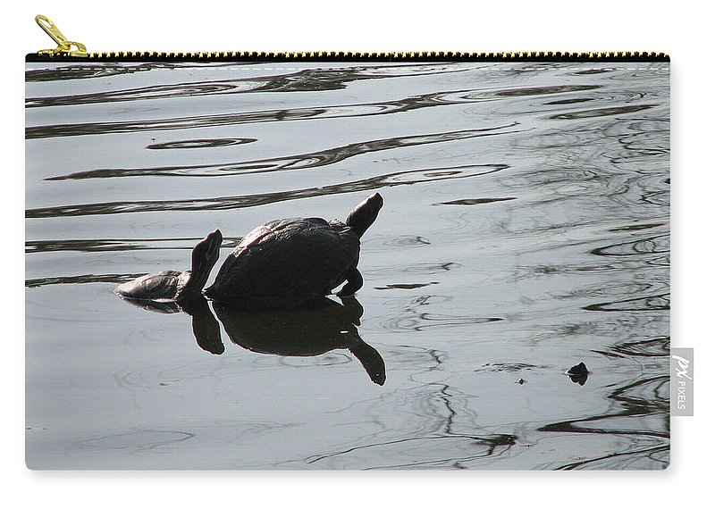 Turtle Carry-all Pouch featuring the photograph Vereen Turtles by Kelly Mezzapelle