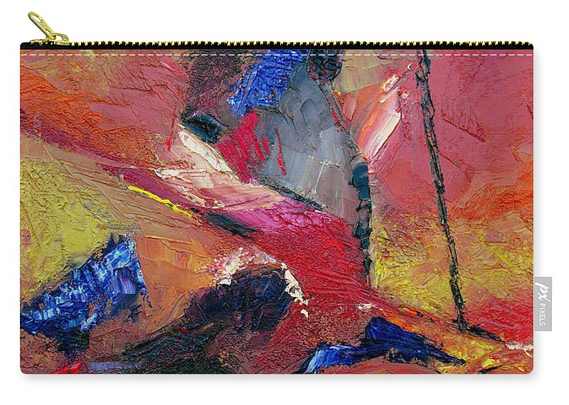 Abstract Carry-all Pouch featuring the painting Verily Vivacious by Ruth Palmer