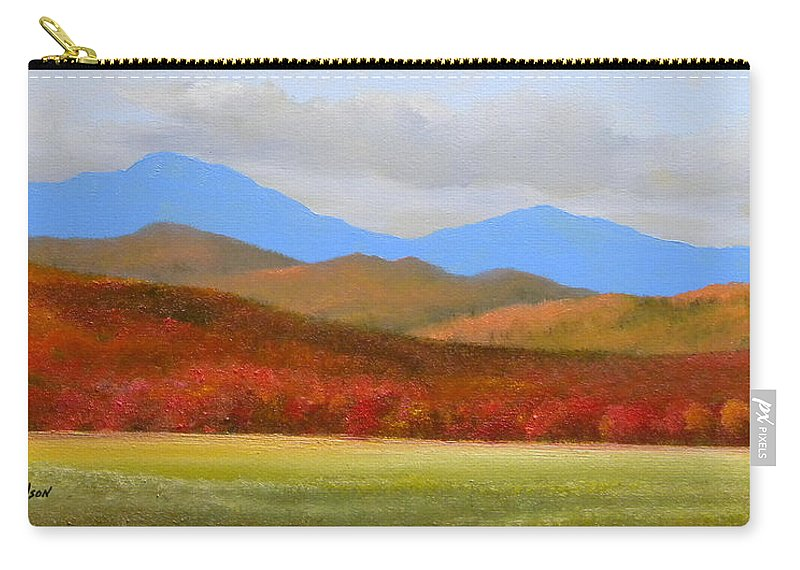 Autumn Carry-all Pouch featuring the painting Vermont Autumn Vista by Frank Wilson