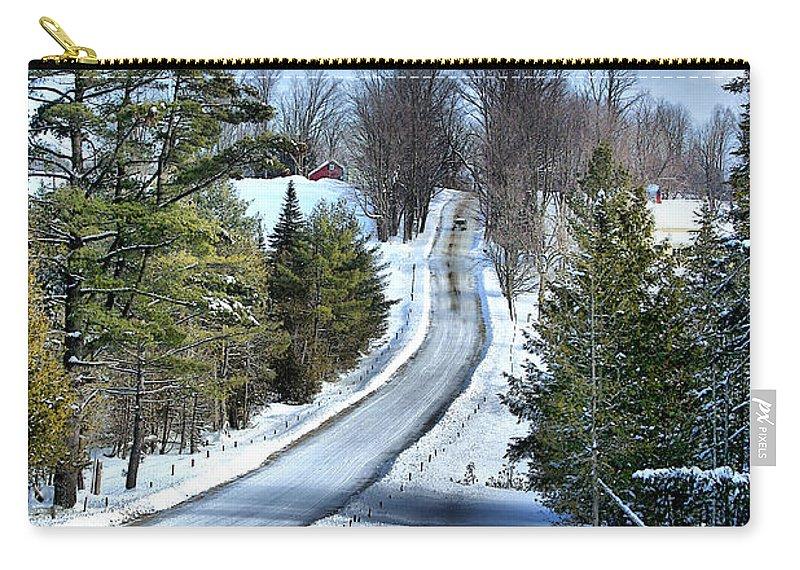 Vermont Carry-all Pouch featuring the photograph Vermont Country Landscape by Deborah Benoit