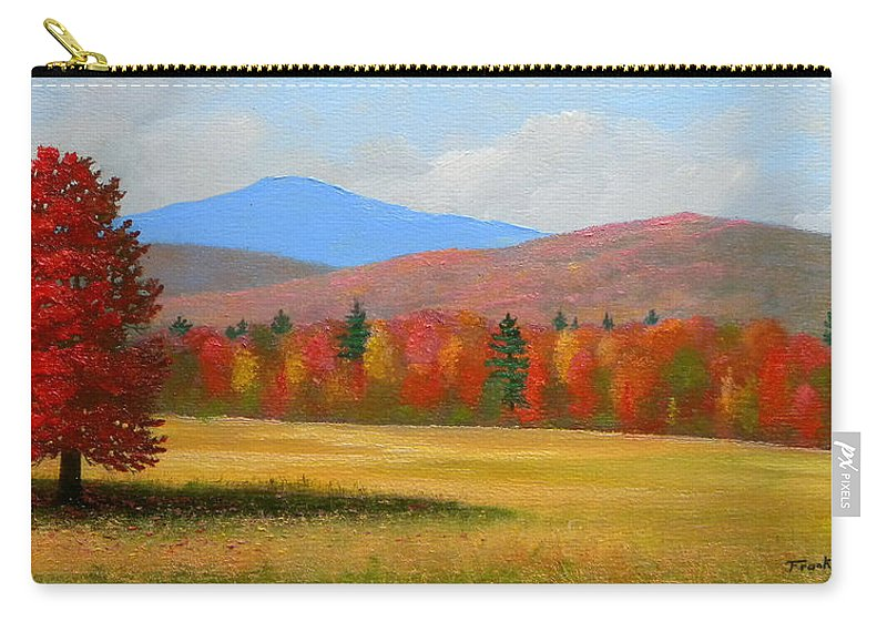Autumn Carry-all Pouch featuring the painting Vermont Haven by Frank Wilson