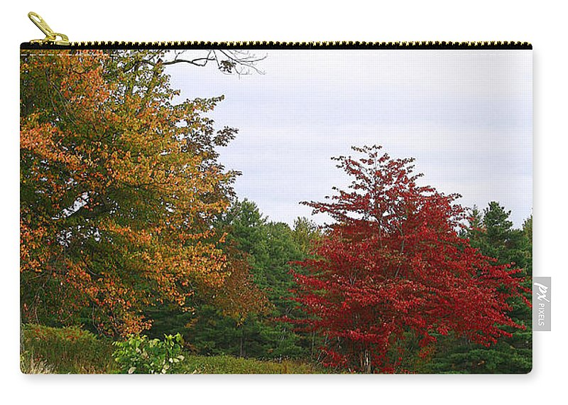 Fall Carry-all Pouch featuring the photograph Vermont Roadside Color by Deborah Benoit