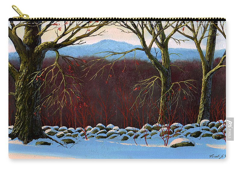 Landscape Carry-all Pouch featuring the painting Vermont Stone Wall by Frank Wilson
