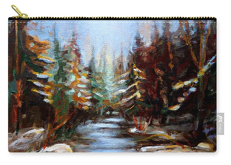 Vermont Carry-all Pouch featuring the painting Vermont Stream by Carole Spandau
