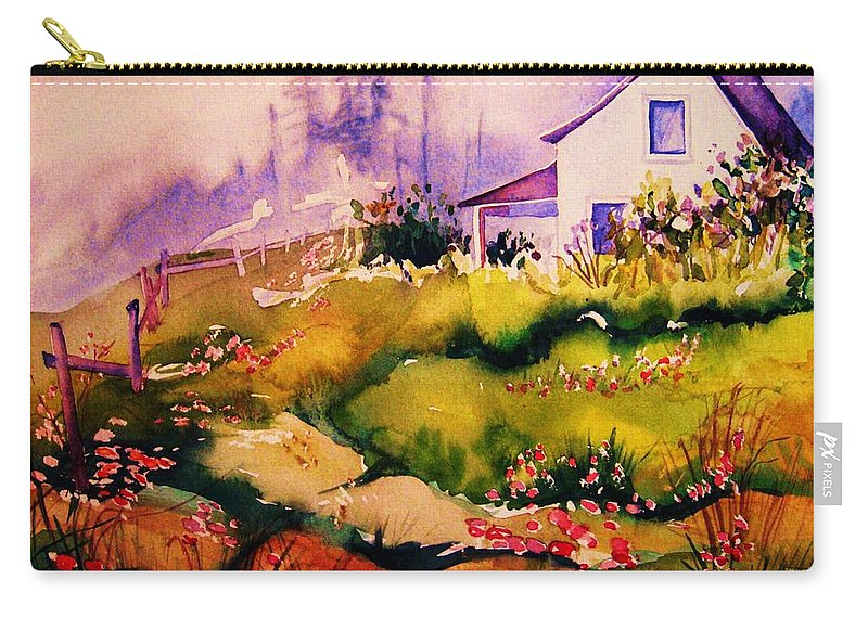 Cottagescenes Carry-all Pouch featuring the painting Vermont Summers by Carole Spandau
