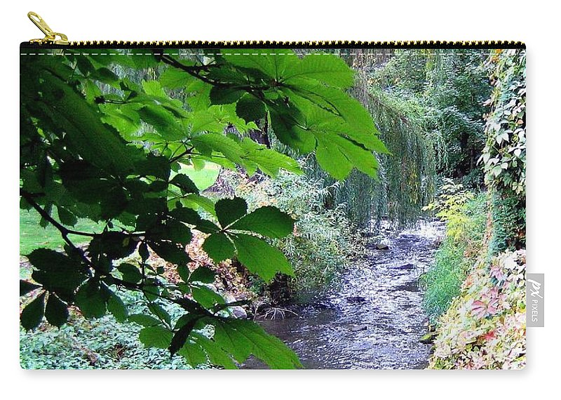 Vernon Creek Carry-all Pouch featuring the photograph Vernon Creek by Will Borden