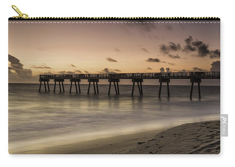 Pier Carry-all Pouch featuring the photograph Vero Beach Sunrise by Fran Gallogly