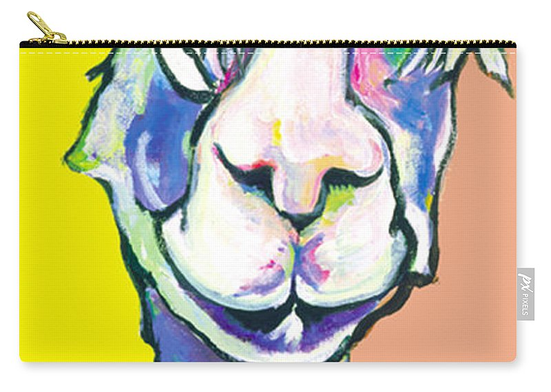 Mountain Animal Carry-all Pouch featuring the painting Veronica by Pat Saunders-White