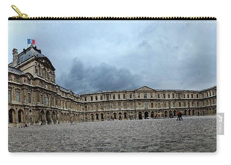 Versailles Carry-all Pouch featuring the photograph Versailles Courtyard by Robert Ponzoni