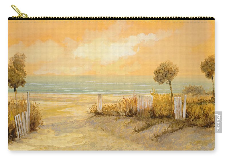 Beach Carry-all Pouch featuring the painting Verso La Spiaggia by Guido Borelli