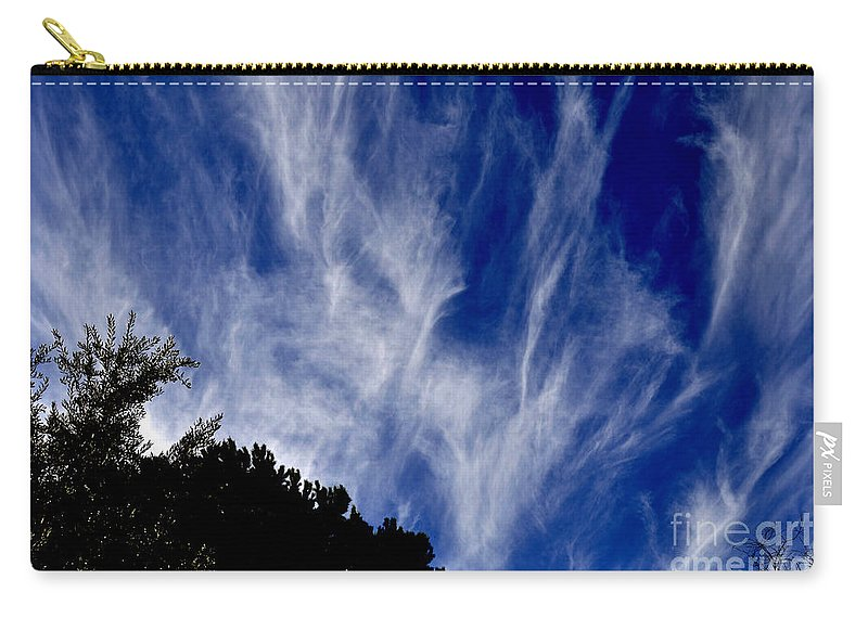 Clay Carry-all Pouch featuring the photograph Vertical Clouds by Clayton Bruster