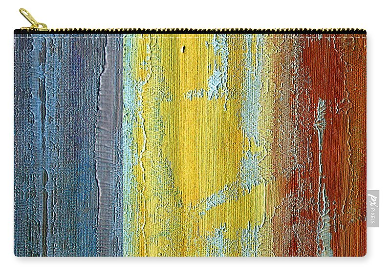 ruth Palmer Carry-all Pouch featuring the painting Vertical Interfusion II by Ruth Palmer